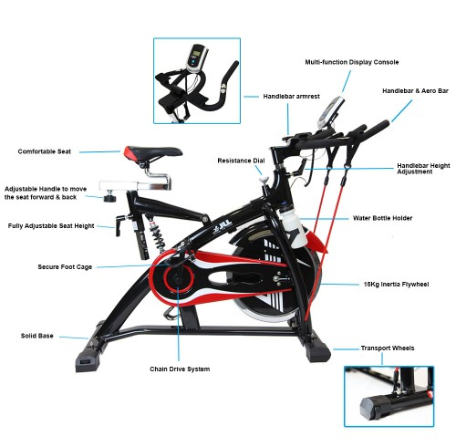 jf 500 exercise bike features