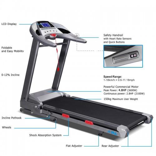 jll d500 treadmill specification