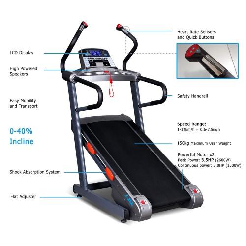 JLL T100 Incline Trainer Treadmill feature
