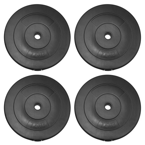 JLL Dumbbell Weight Plates - 4x 7.5kg