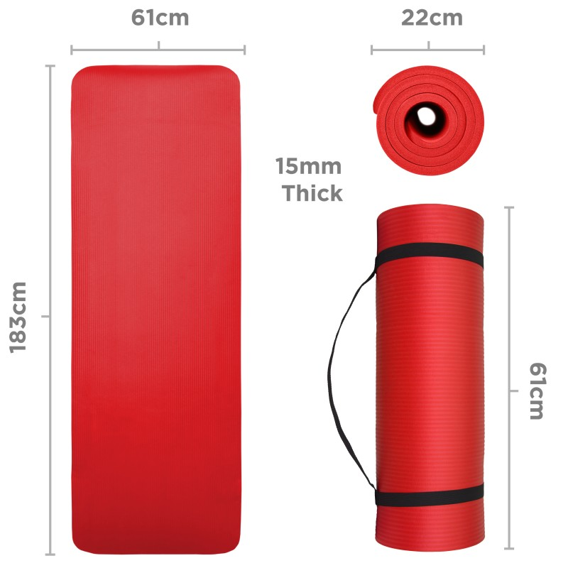 JLL Yoga Mat 15mm Extra-Thick