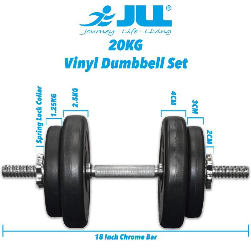 Voit Dumbbell Set 20kg: 20kg (Bars + Plates)