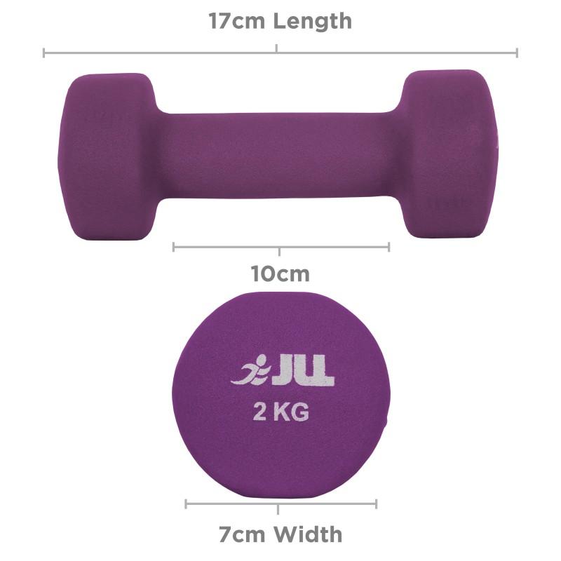 Jll Dumbbell Set: JLL Neoprene Coated Steel Dumbbells