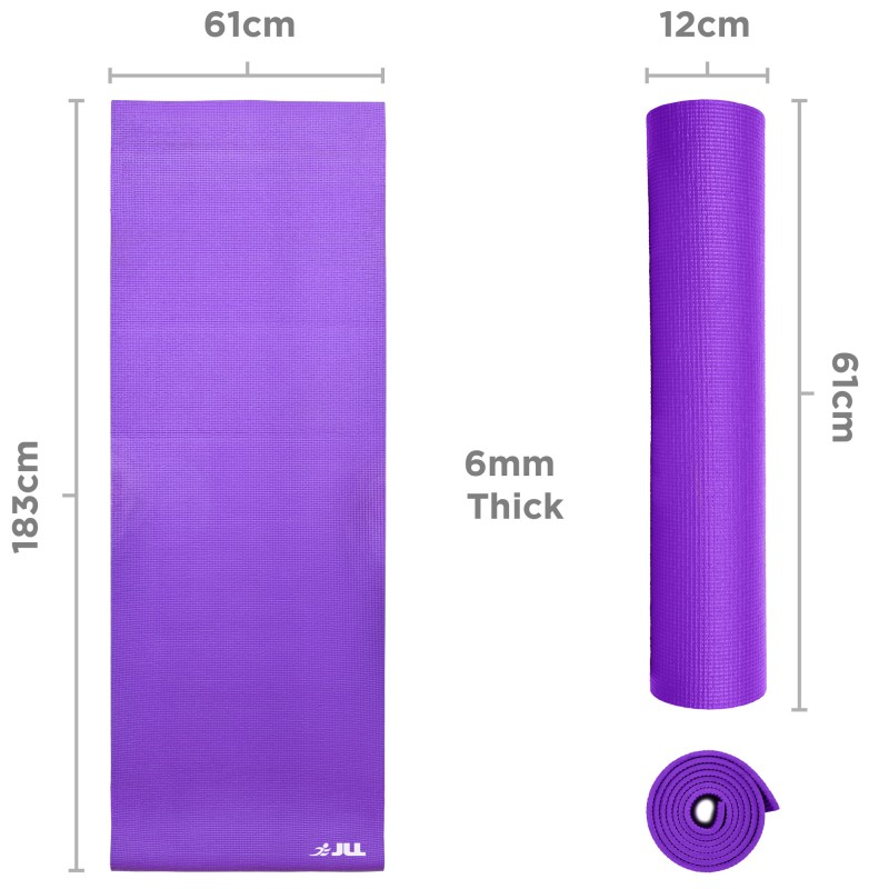 Jll Yoga Mat 6mm Free Carry Case Jll Fitness