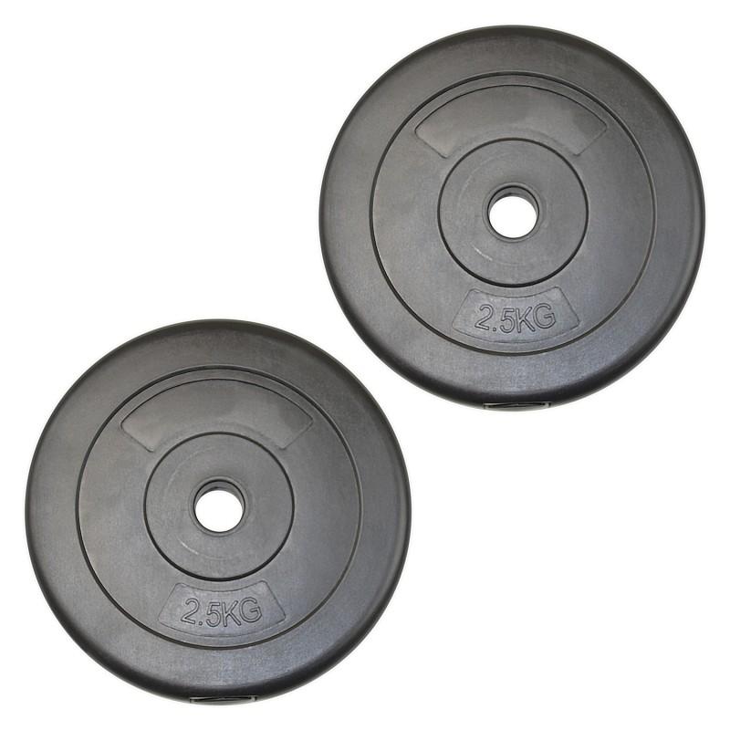 Vinyl Weight Plates 2x 2 5kg 5kg Jll Fitness