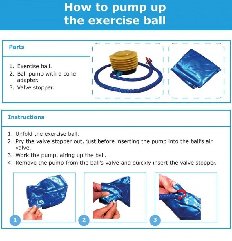 Stability Ball Manual: JLL Fitness Gym Ball (75cm)