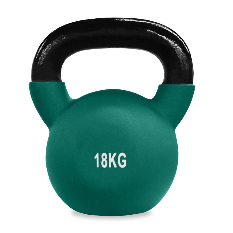 Neoprene Covered Cast Iron Kettlebells 18kg Jll Fitness