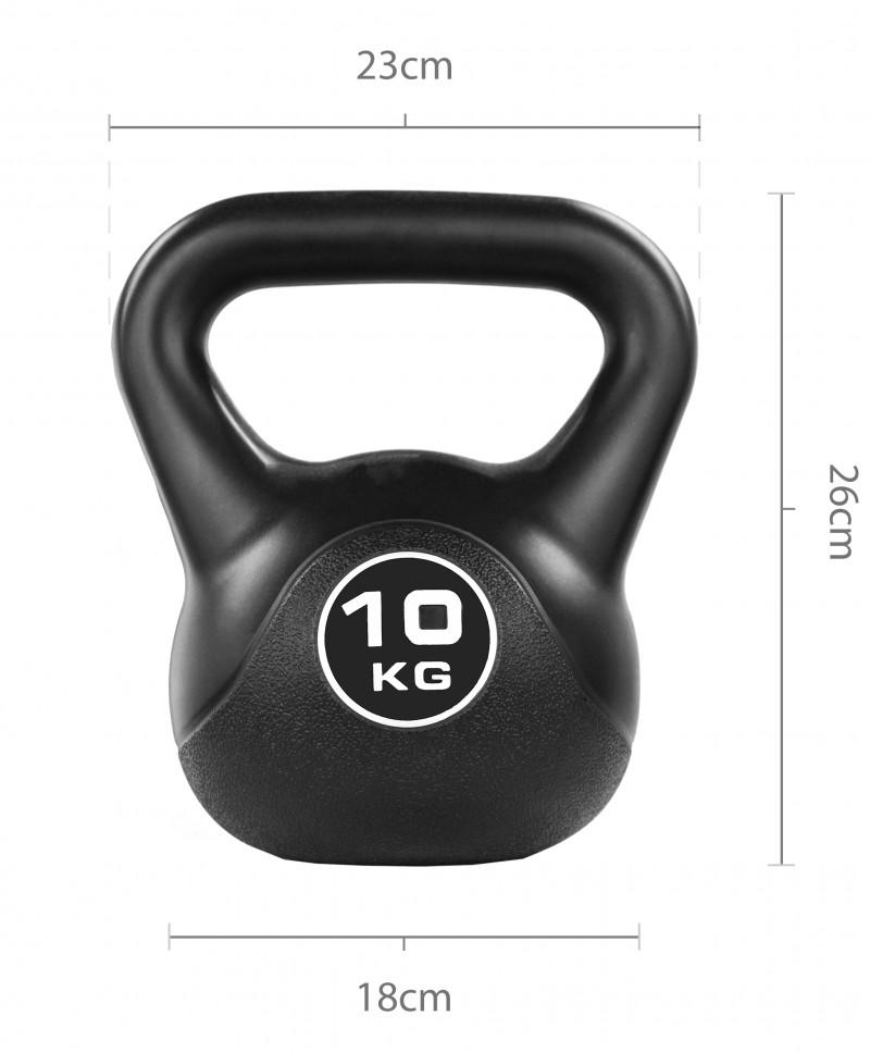 Black Vinyl Kettlebell 10kg Jll Fitness