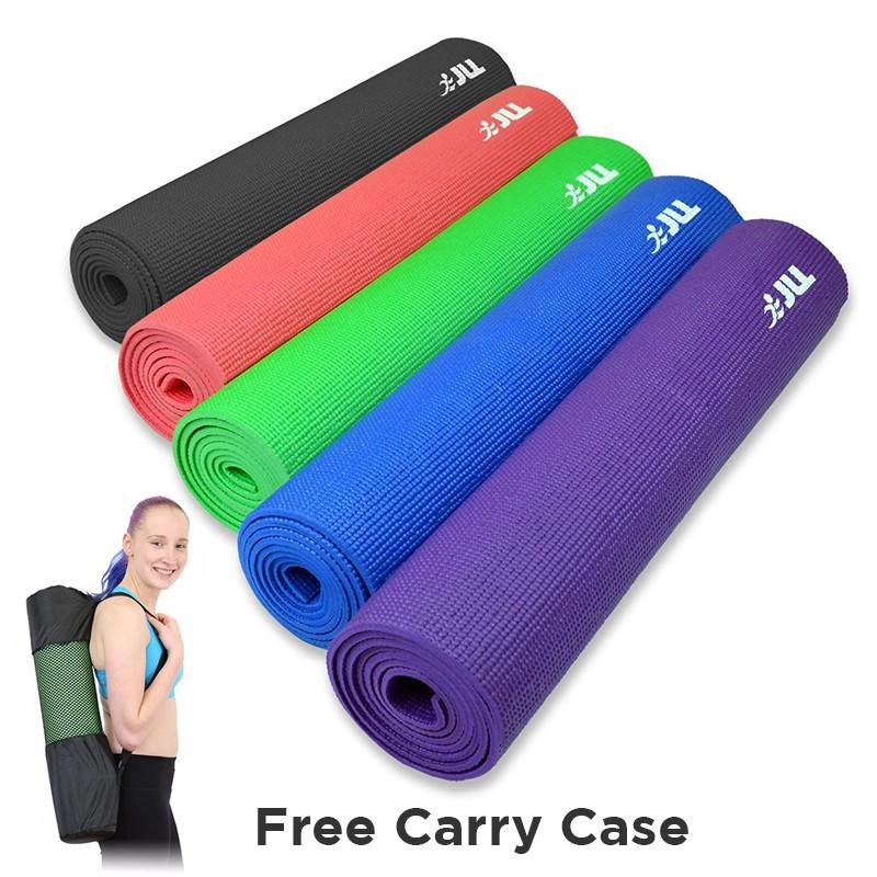JLL Yoga Mat 6mm + Free Carry Case