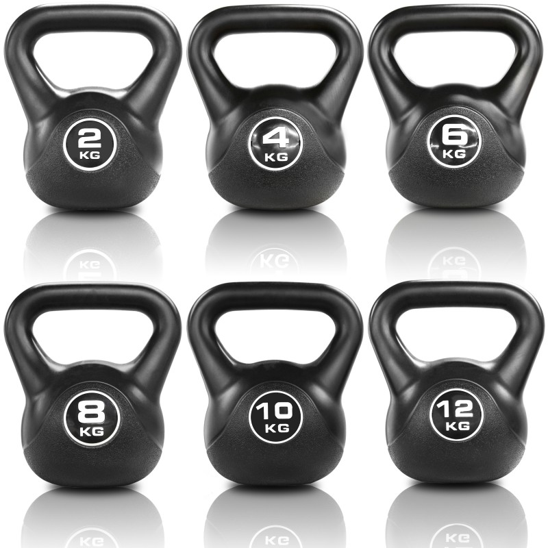 Jll Black Vinyl Kettlebells 2kg 12kg Jll Fitness
