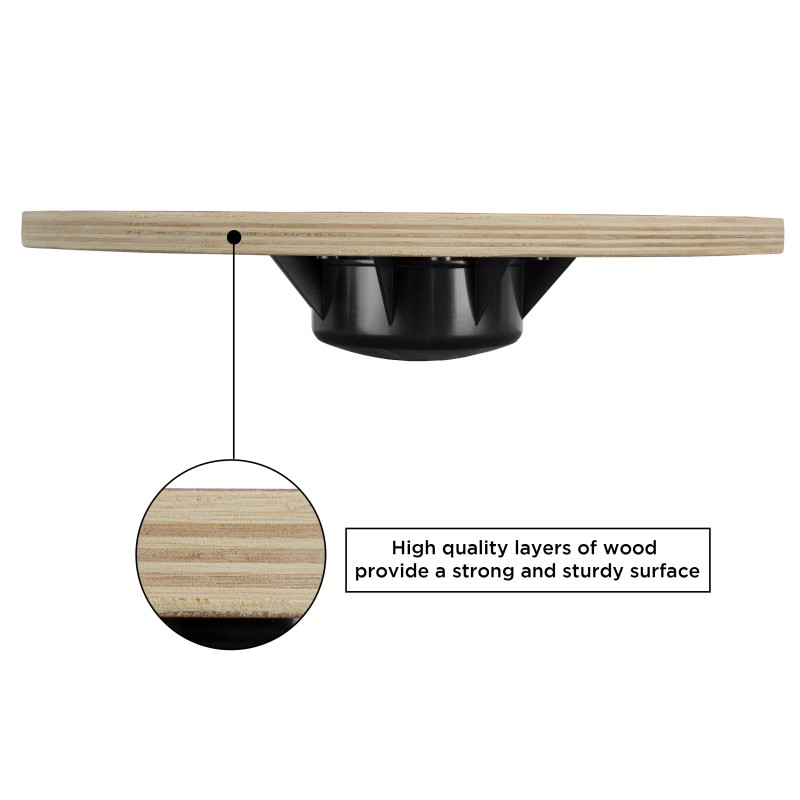 Balance Board Uk Sale: JLL Wooden Balance Wobble Board