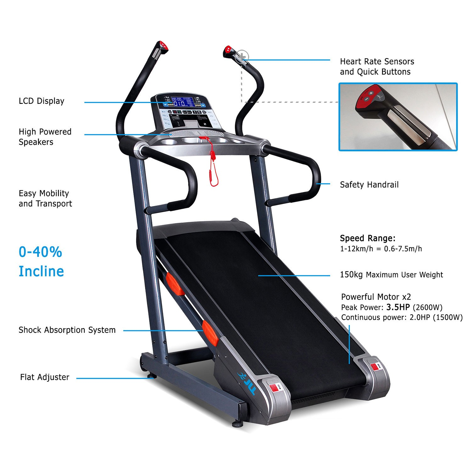 Jll T100 Commercial Incline Trainer Jll Fitness