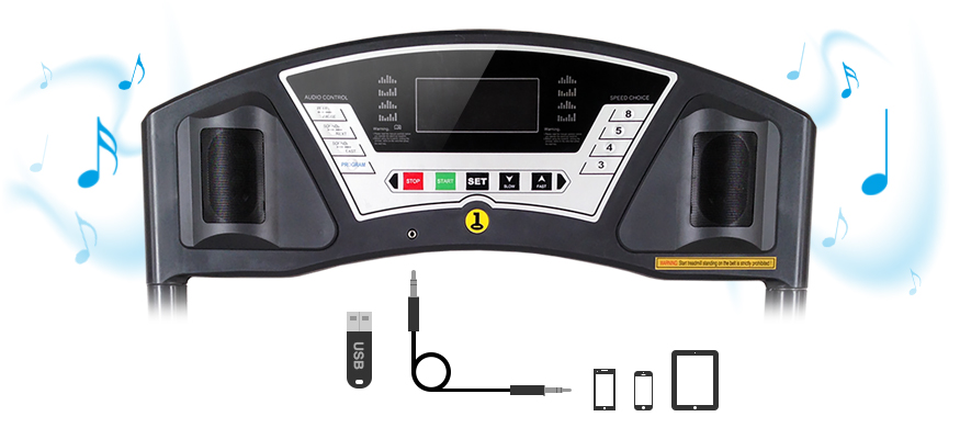 The D100 monitor features LCD display that shows you information about your workout.