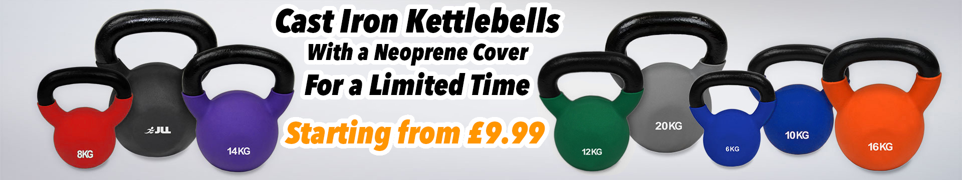 JLL Kettlebells Neoprene Covered Cast Iron