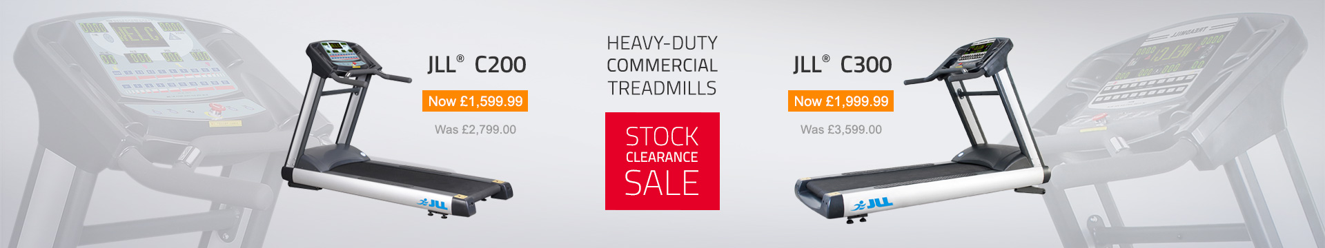Stock Clearance Sale C200 and C300 Heavy-Duty Commercial Treadmill