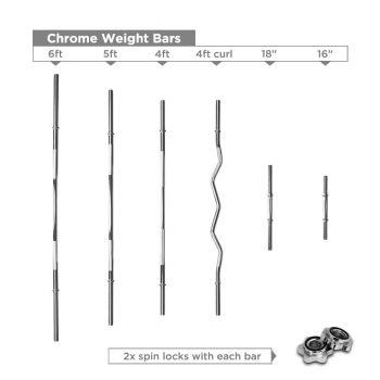 Weight Lifting Bar Chromed Steel