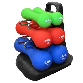 Neoprene Dumbbell Set With Stand