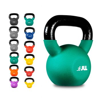 JLL Neoprene Covered Cast Iron Kettlebells 2kg - 24kg