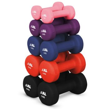 JLL Neoprene Coated Steel Dumbbells