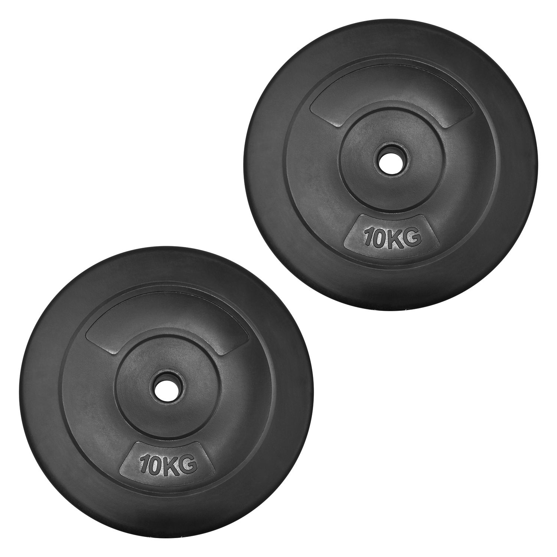 Vinyl Weight Plates 2x 10kg 20kg Jll Fitness