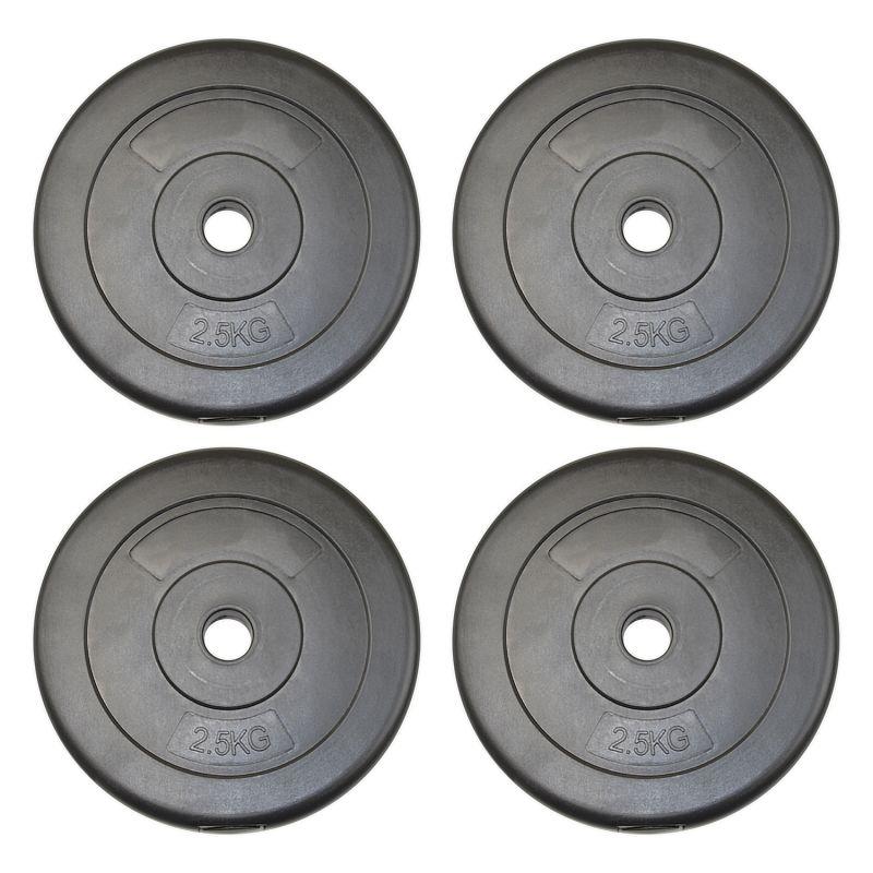 Vinyl Weight Plates 4x 2 5kg 10kg Jll Fitness
