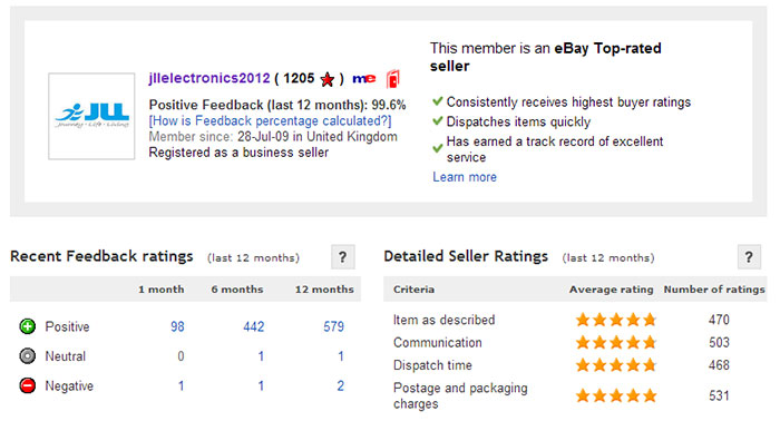 jll ebay customer review