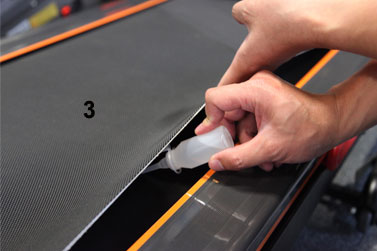 how to oil folding treadmill